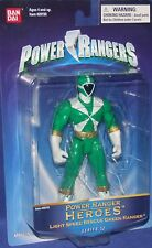 "Power Rangers Lightspeed Rescue 5"" Green Heroes Series 12 New 2004 Factory Seal"