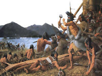 """high quality oil painting handpainted on canvas """"The Battle of Sitka"""""""