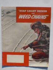 American Chain & Cable Co Weed Chains car truck & tractor chains literature 1947