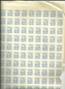 MEXICO 1915 10 CENTS  IMPER COMPLETE SHEET CORNES H NO GUM  (U234)