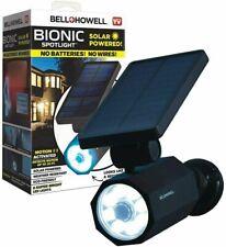 Bell + Howell Bionic Spotlight Solar Spot Light with 25 Feet Motion Sensor - NEW