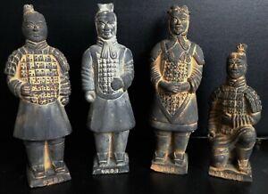 Terracotta Army Warrior Figurine Set - Four Warriors in Presentation Case