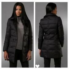 AS IS SALE $565 Theory Lynelle Peacoat Double Breast Puffer Sz P BLACK