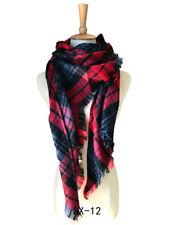 Lady Blanket Cashmere Long Circle Tassels Scarf Pashmina Women Plaid Cozy Shawls