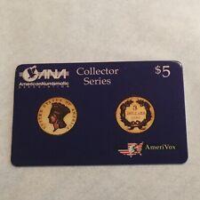 Phone Card 1993 American Numismatic Association Collector Series $5.00 Rare!!!