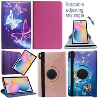 """Samsung Galaxy Tab S6 Lite 10.4"""" SM P610 Tablet 360° PU Leather Flip Case Cover"""