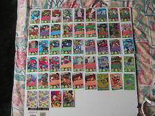 49x bin weevil mulch mayhem panini trading cards.with game rules and charts
