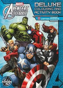 Avengers Assemble: Deluxe Colouring and Activity Book (Starring Captain...