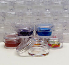 200 Beauty Containers Wholesale Empty Sample Cosmetic Jar Clear Cap 5 Gram #5014