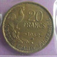 20 Francs 1952 B  G Guiraud : TTB : pièce de monnaie Française N24