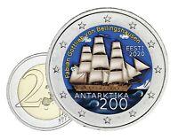Estland 2 Euro 2020 Entdeckung der Antarktis Bellinghausen in Farbe
