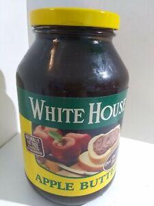 vintage unopened white house apple butter 28 oz glass jar metal lid prop