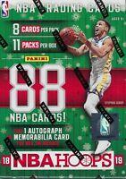 2018-19 Panini HOOPS Basketball NBA Cards 88ct *HOLIDAY BLASTER* Box=Auto/Mem OA