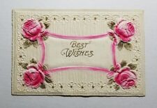 PRINTED IN GERMANY EARLY 1900'S BEST WISHES VINTAGE POSTCARD 13E