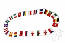 """22 Euro Cup Small 6"""" X 9"""" Inch Flag Banner Bunting . New"""