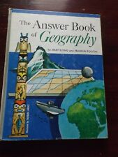 Vtg 1964 Textbook Grade School Early Reader Answer Book of Geography