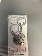 """True Love"" Couple Lover Key Ring Pendant Keyfob 2 pieces"