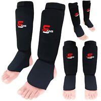 SAWANS® Shin Instep Pads Adult Kids MMA Leg Guard Muay Thai Kickboxing Protector