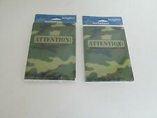 ARMY CAMOUFLAGE INVITATIONS 8 PK, - Lot of 2 Packages - PARTY SUPPLIES