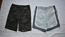 Mens Lot 2 Pair Adult Small 30 Swim Trunks Covington Grey Mossimo Camouflage