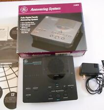 GE 2-9876 Fully Digital Family Answering System With Manual Black Vintage