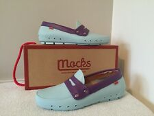 WOMEN'S PENNY LOAFERS BY MOCKS - BUENOS AIRES BLUE - SIZE 4 - RRP £55 ***NEW***