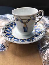 Richard Ginori Museo Set 6 Tazzine Caffè + 6 Piattini, Nuovo Imballato
