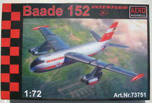 AEROMODELL 73751 - Baade 152 - INTERFLUG - Resin - 1:72 - Flugzeug Bausatz Kit