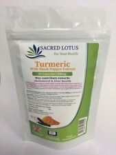 Turmeric and Black Pepper Capsules Curcumin Tumeric 90 x 500mg GMP UK Made