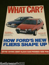 WHAT CAR? - FORD SAPPHIRE 2000E - OCT 1989