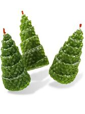Candle Beeswax New Year fir-tree set of three candles