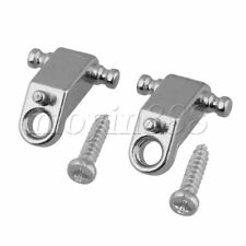2xCopper String Retainers Roller String Trees Silver for Electric Guitar