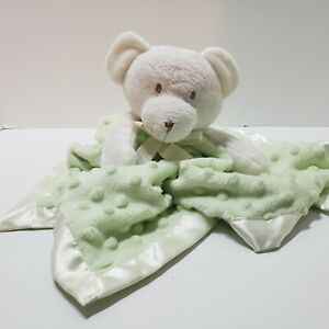 Blankets & Beyond Mint Green Bear Lovey Security Blanket Plush Dots Baby Baby
