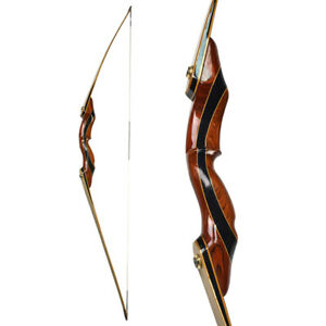 """62"""" Longbow 25-55lbs Wooden Bow Traditional Recurve Bow Takedown Archery Hunting"""