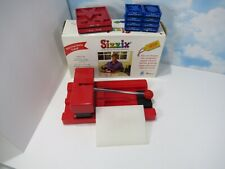 Sizzix Red Original Die Cutting Machine With Lot Of 10 Dies Great Condition