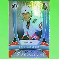 ERIK KARLSSON  2009-10  ROOKIE PREMIERES  620/799  #145   Ottawa Senators