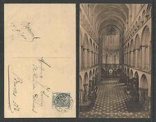 1910 TOURNAI BELGIUM INTERIEUR de la CATHEDRALE POSTCARD