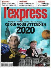 L'EXPRESS n°3575 08/01/2020  Ce qui vous attend en 2020/ Réforme des retraites