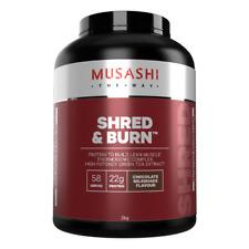 MUSASHI SHRED & BURN 2KG to build LEAN MUSCLE ,VANILA MILKSHAKE,CHOCO MILKSHAKE