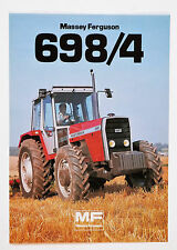 Massey Ferguson MF698/4 Double Sided Brochure.. Please See Pictures.