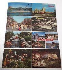 Vintage Postcard Lot 8 Disneyland Triceratops Submarine Jungle Train Headhunters
