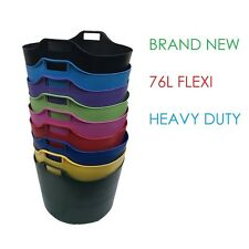 EXTRA LARGE 76L FLEXI TUB BUCKET TRUG STORAGE FLEXIBLE BASKET - 9 COLOURS