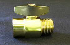 SHOWER HEAD CONTROL VALVE adjusts water flow knob bath POLISHED BRASS metal