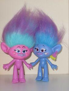 Trolls dolls Satin and Chenille LOT of 2