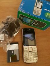 Brand New Nokia C2-01 - Gold Black (Unlocked) Mobile Phone+Warranty+UK Seller