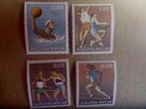 YUGOSLAVIA 1972 OLYMPICS GAMES 4X STAMPS MUH