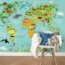Children's bedroom Wall mural photo wallpaper 151x102inch PREMIUM World Map