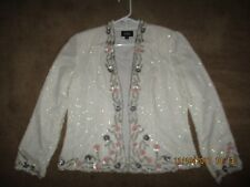 VINTAGE PAPELL STUDIO  Cocktail Formal Evening Top Sequin  LINED JACKET