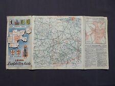 Leuna Zapfstellen - Karte Nr.13, Berlin, Magdeburg, Leipzig, Dresden, 1938