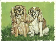 Little King and Queen, Cavalier King Charles Spaniel blank note card